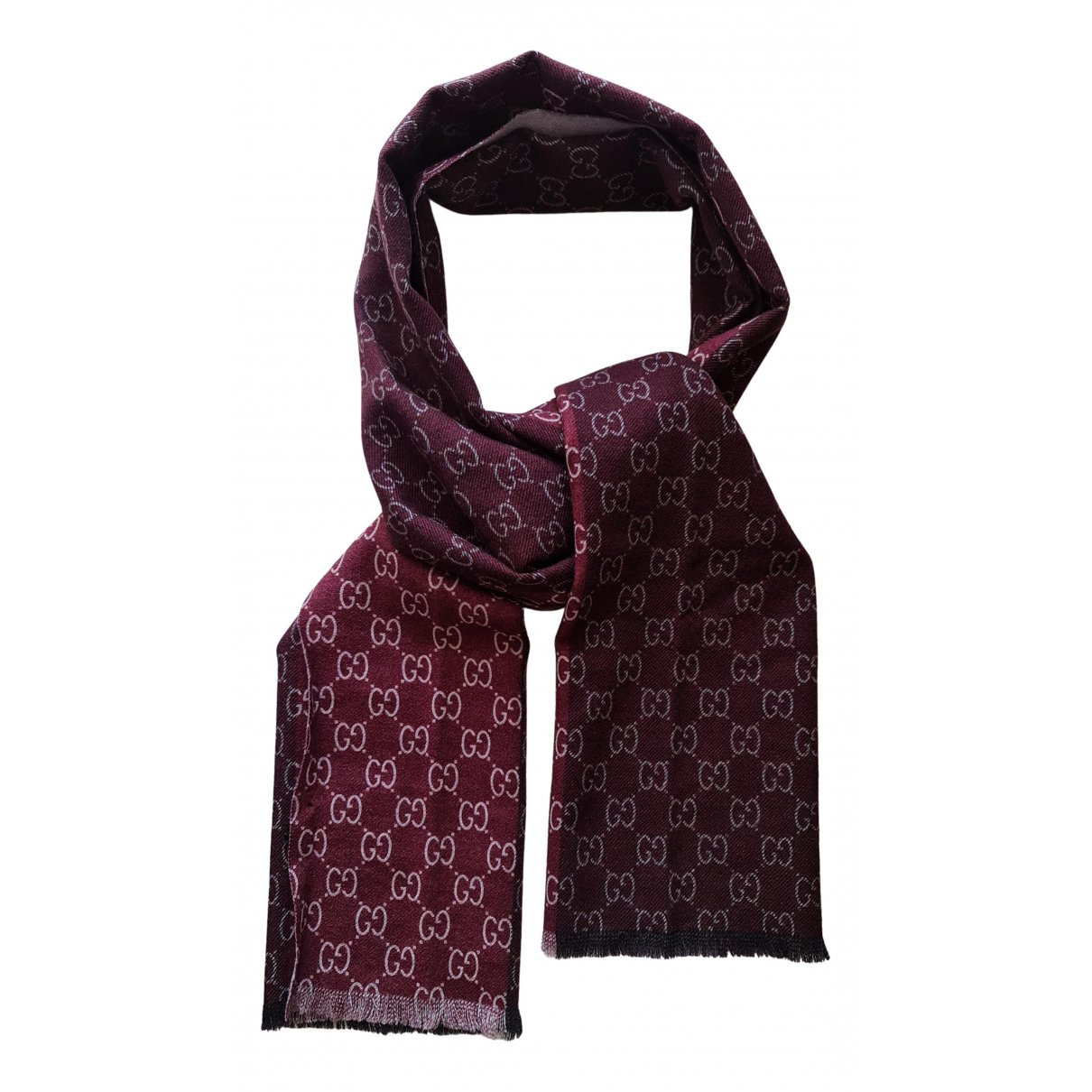 Gucci N Red Wool scarf & pocket squares for Men N