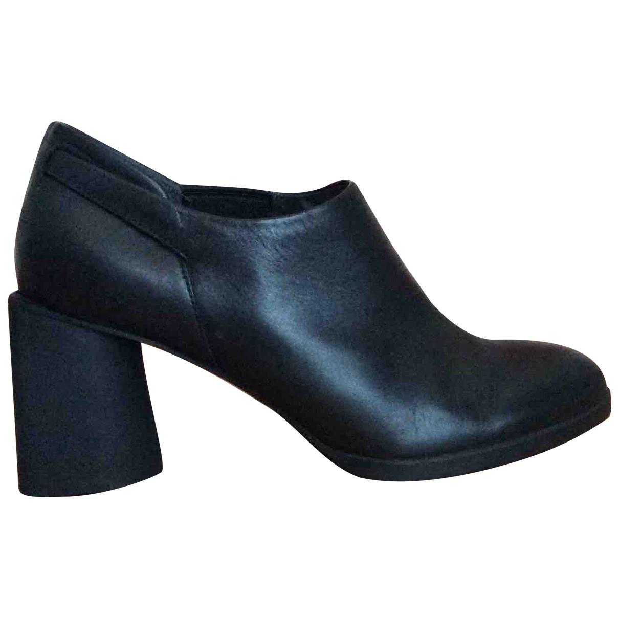Camper - Boots   pour femme en cuir - noir