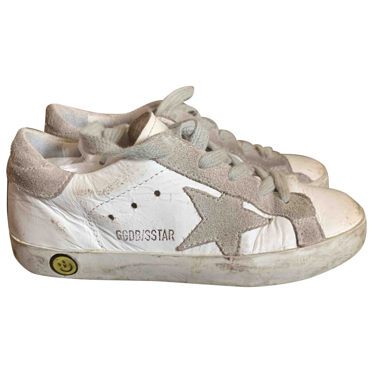 Golden Goose Superstar White Leather Trainers for Kids 27 EU