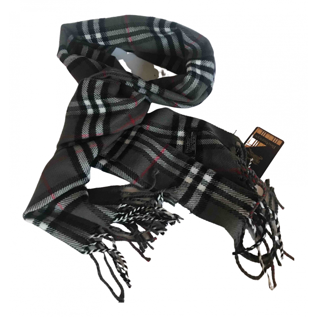 Burberry N Grey Wool scarf & pocket squares for Men N