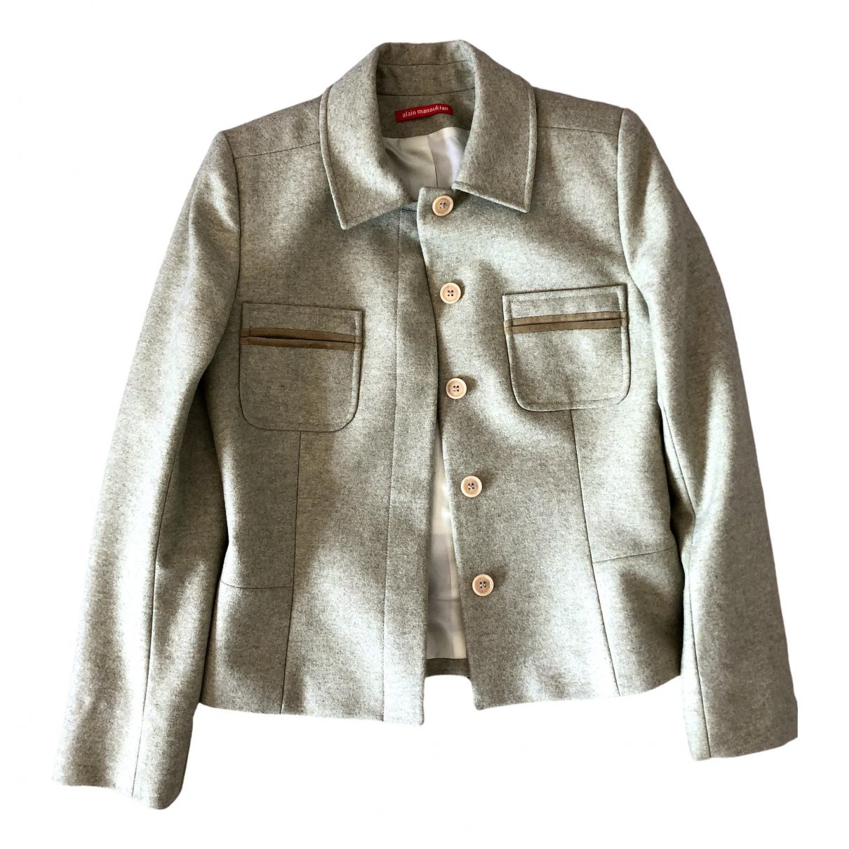 Non Signé / Unsigned \N Green Wool jacket for Women 38 FR