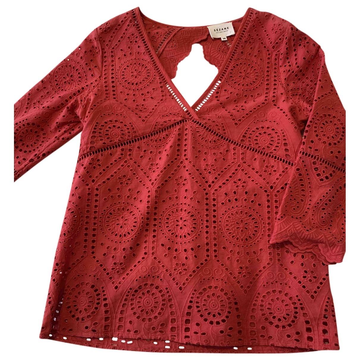Sezane \N Top in  Rot Baumwolle
