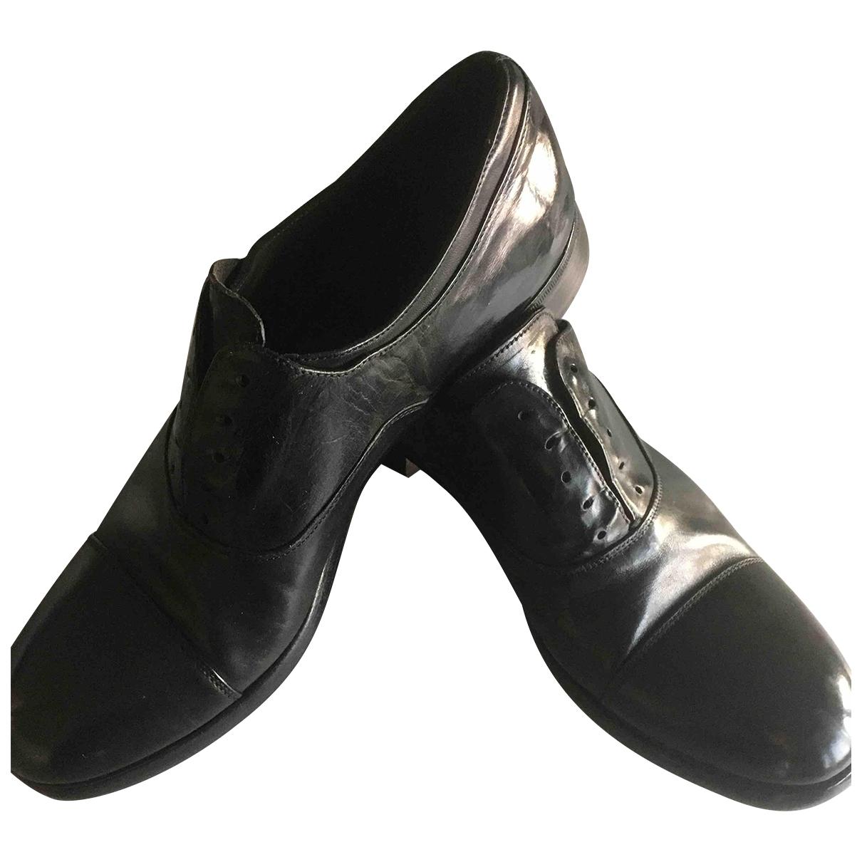 Premiata - Derbies   pour homme en cuir - noir