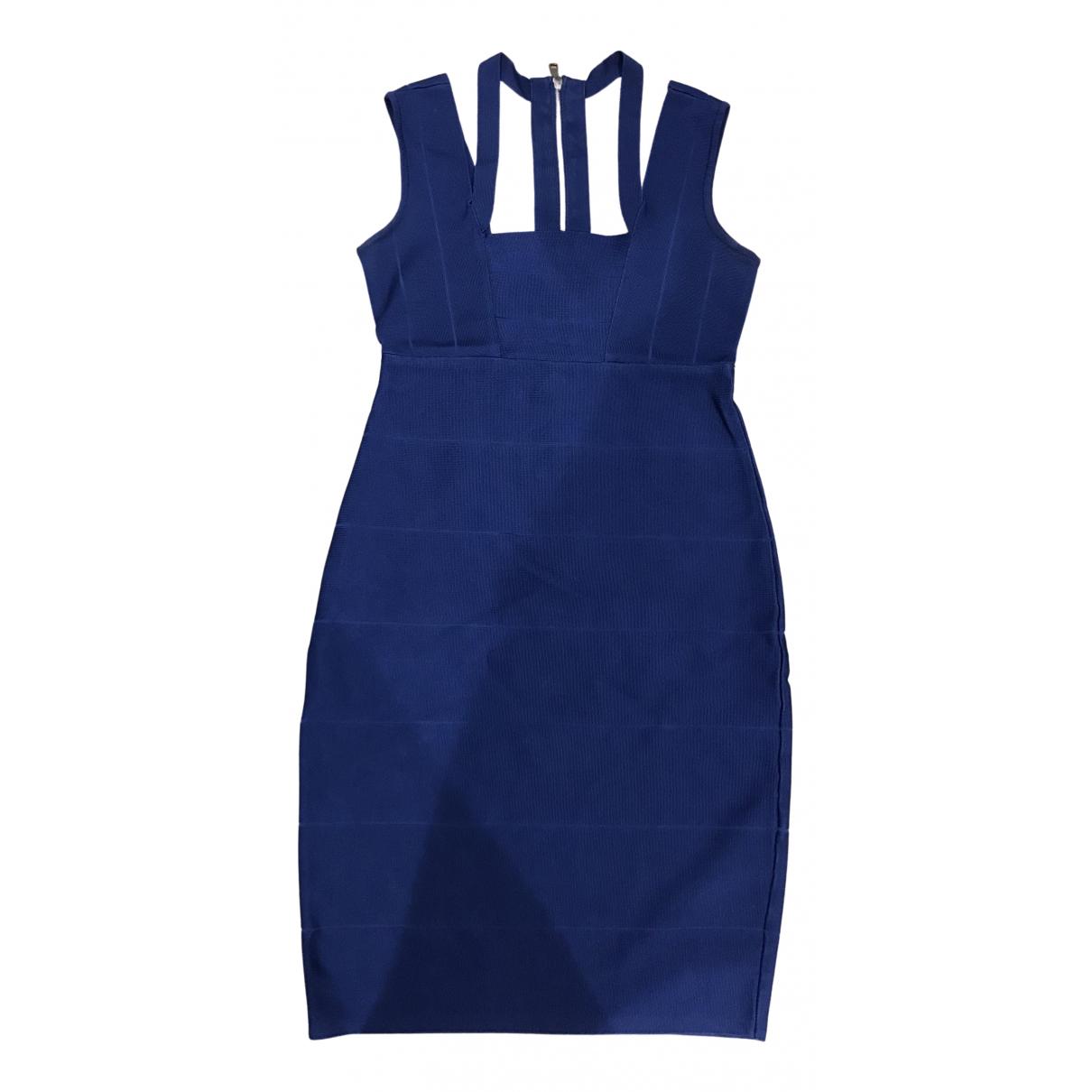 Emporio Armani \N Kleid in  Blau Polyester