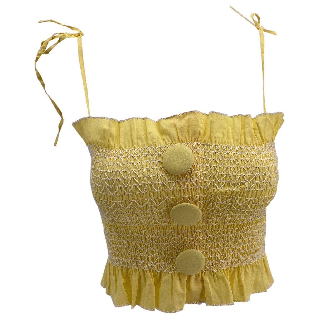 House Of Sunny \N Yellow Cotton  top for Women 6 UK