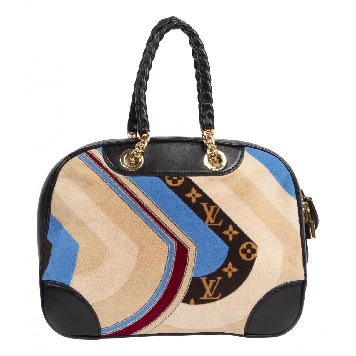 Louis Vuitton - Sac a main   pour femme en velours - multicolore