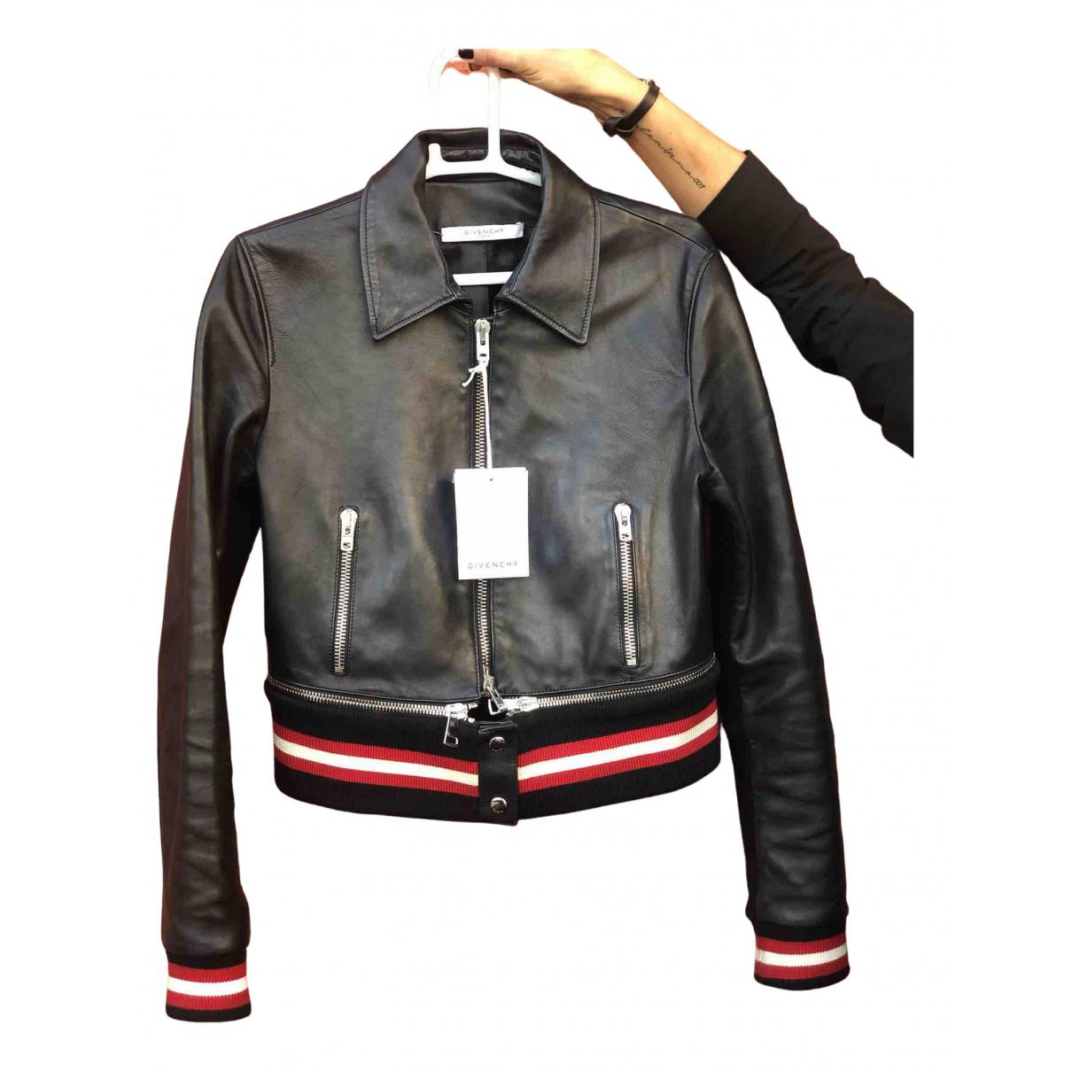 Givenchy \N Lederjacke in  Schwarz Leder