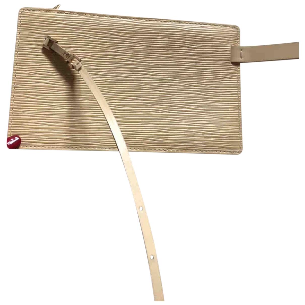Louis Vuitton - Pochette   pour femme en cuir - jaune