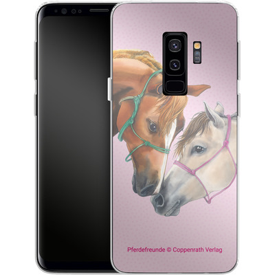 Samsung Galaxy S9 Plus Silikon Handyhuelle - Pferdefreunde Freundschaft von Pferdefreunde