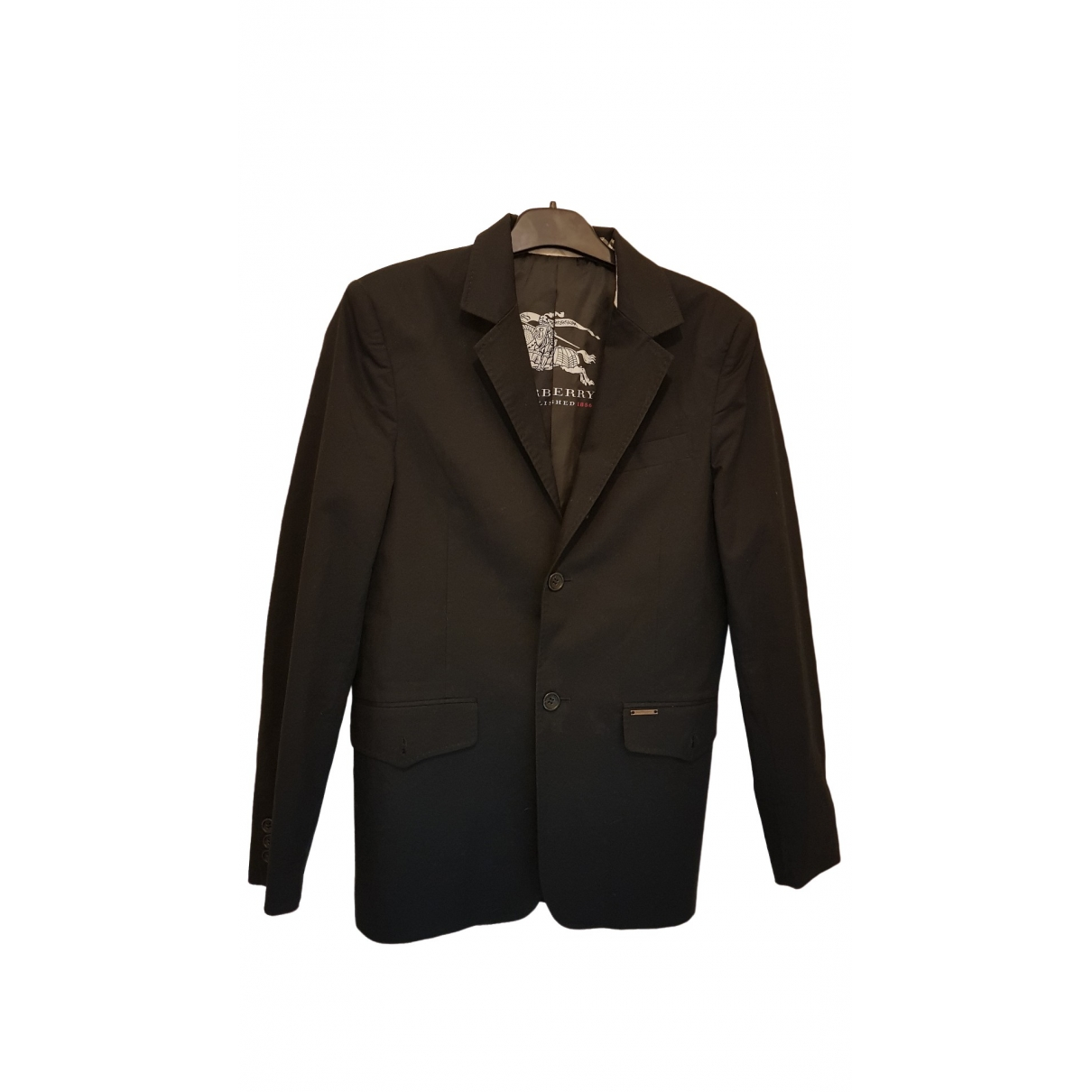 Burberry \N Black Cotton jacket  for Men S International