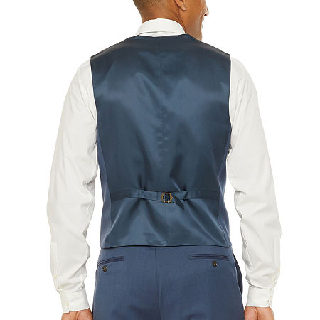 Stafford Super Suit Mens Stretch Regular Fit Suit Vest - Big and Tall, Xx-large , Blue