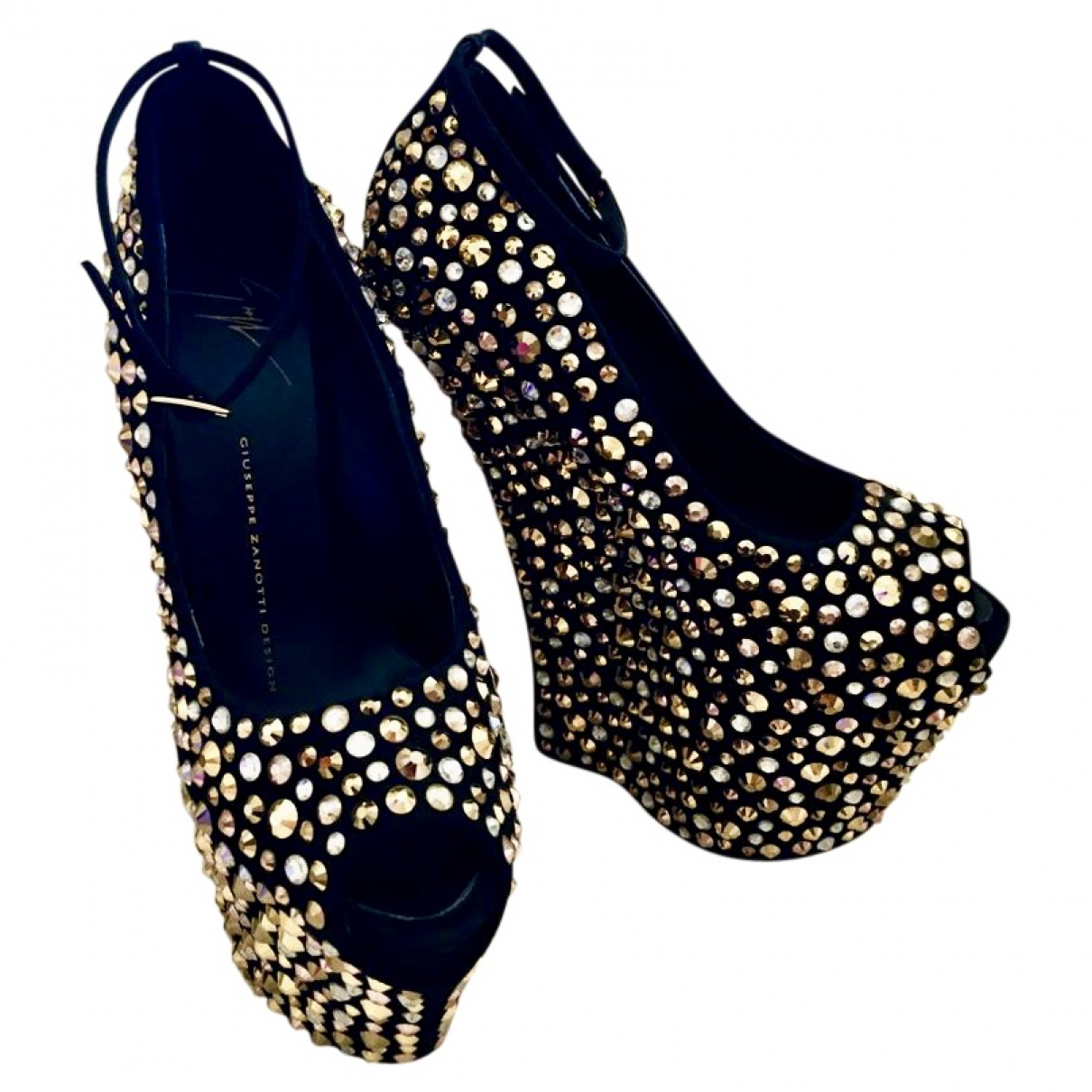 Giuseppe Zanotti \N Gold Glitter Sandals for Women 36.5 EU