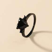 Rhinestone Decor Heart Design Ring