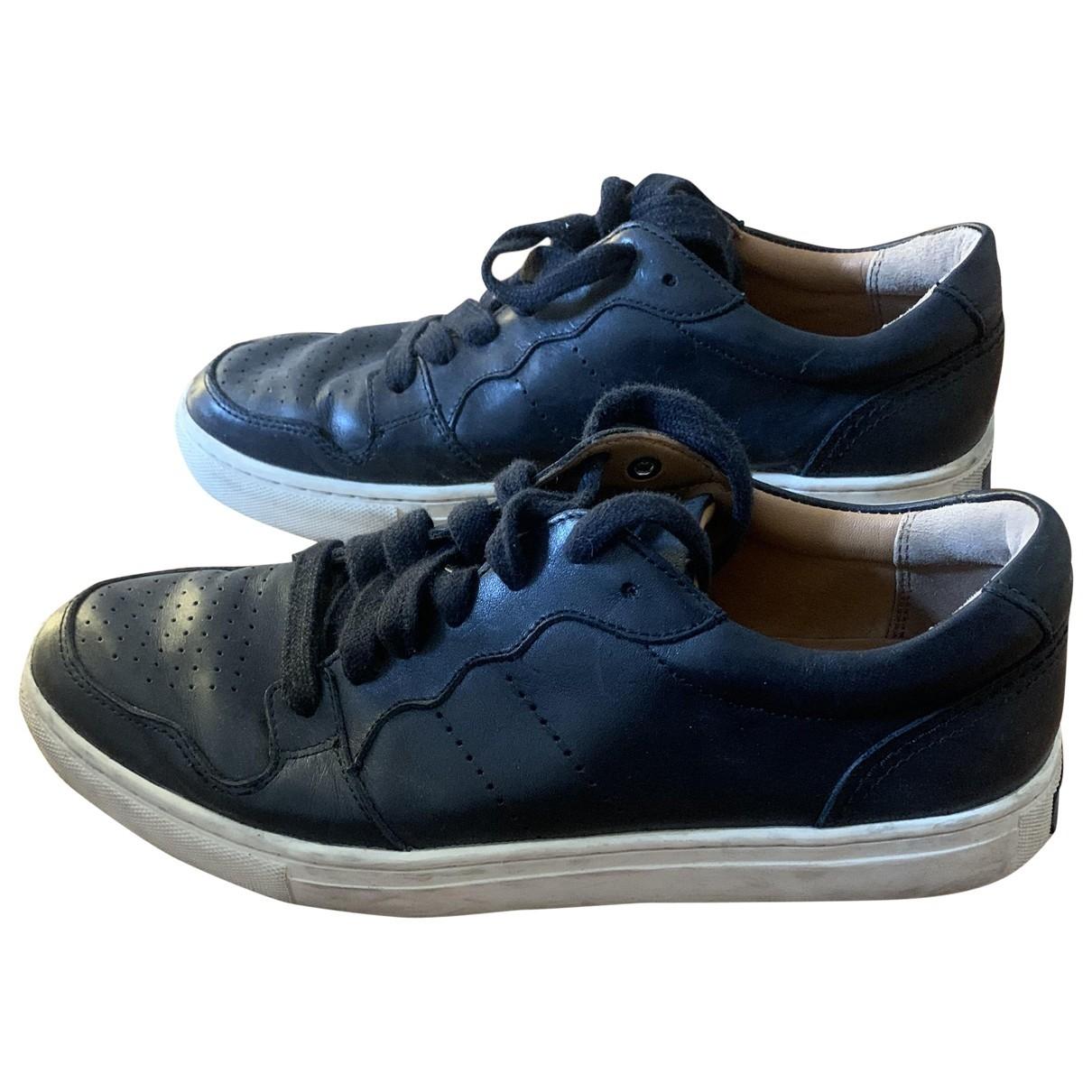 Polo Ralph Lauren \N Sneakers in  Schwarz Leder