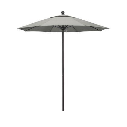 ALTO758117-5402 7.5' Venture Series Commercial Patio Umbrella With Bronze Aluminum Pole Fiberglass Ribs Push Lift With Sunbrella 1A Granite