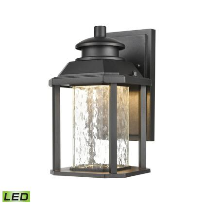 87120/LED Irvine 1-Light Sconce in Matte Black with Seedy