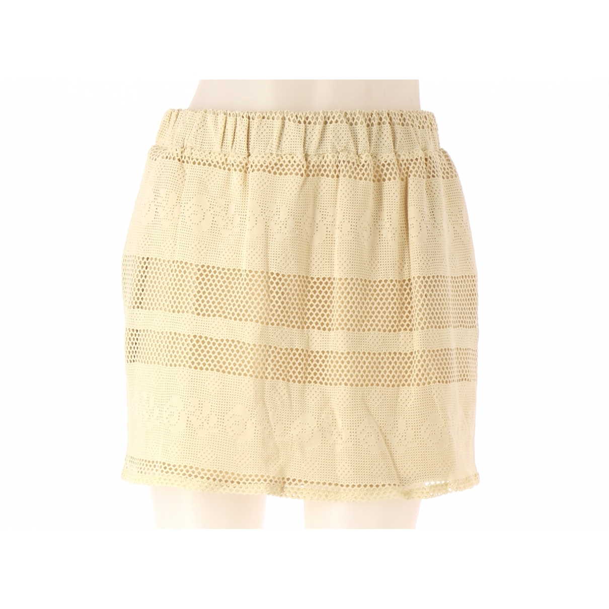 Non Signé / Unsigned \N Beige Cotton skirt for Women 38 FR