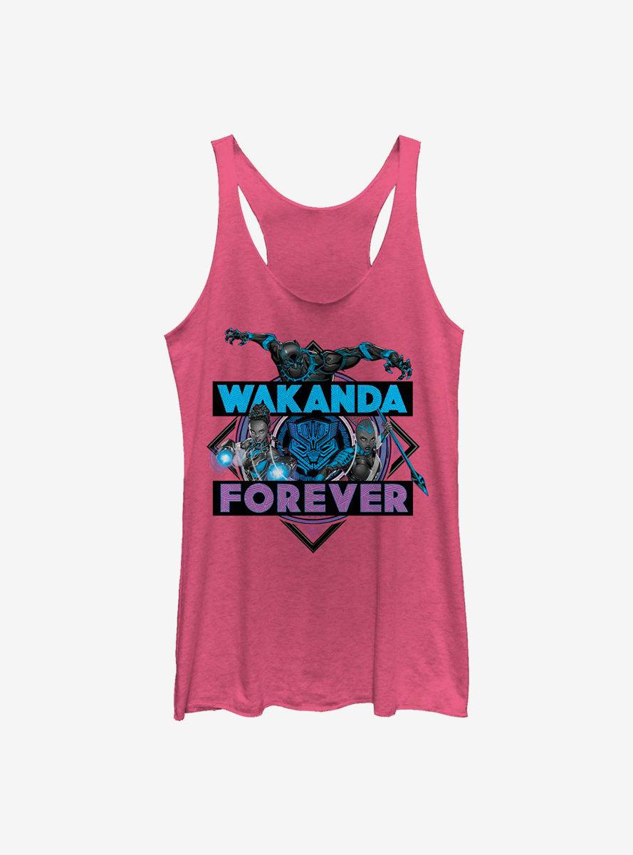 Marvel Black Panther Wakanda Crosshatch Womens Tank Top