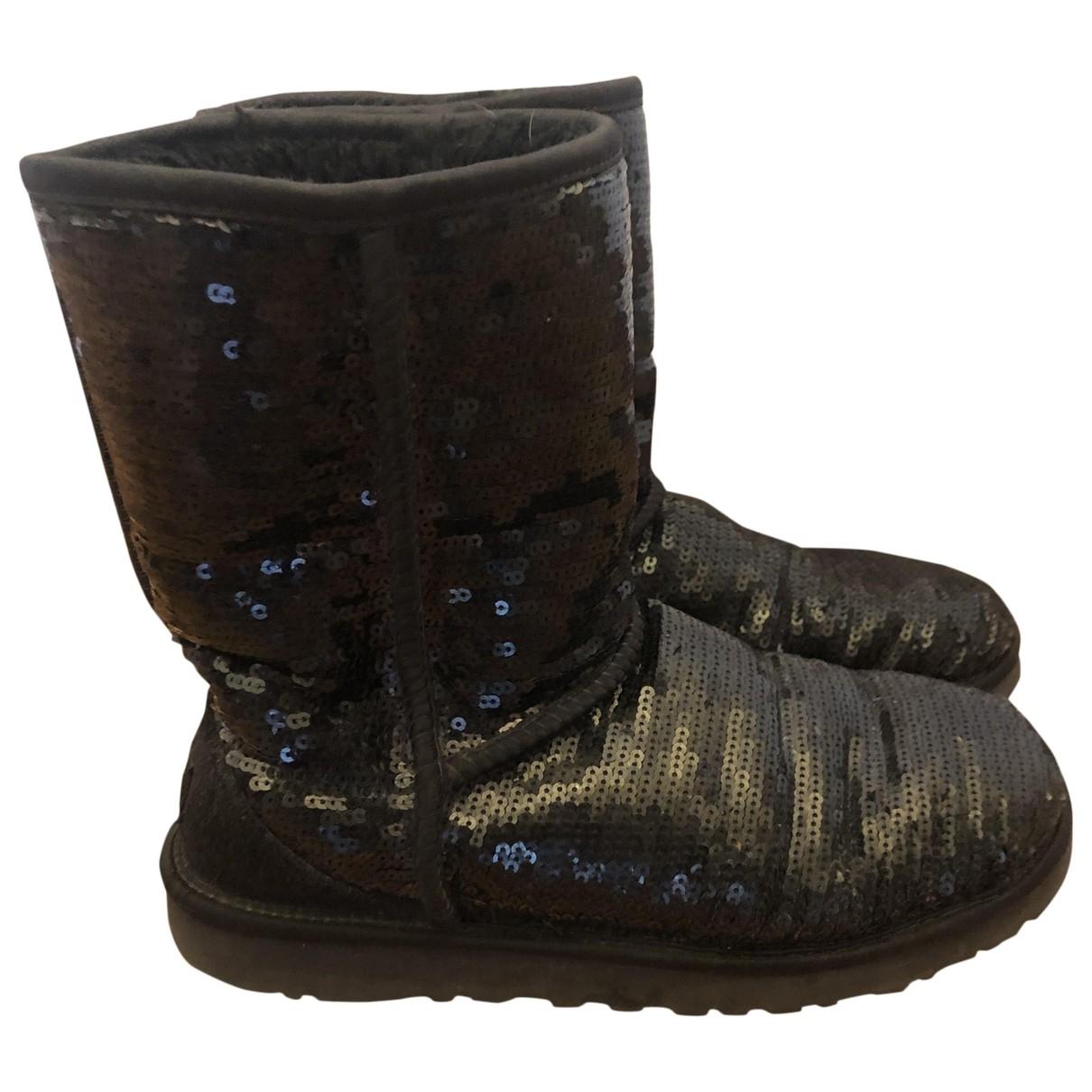 Ugg - Boots   pour femme en a paillettes - noir