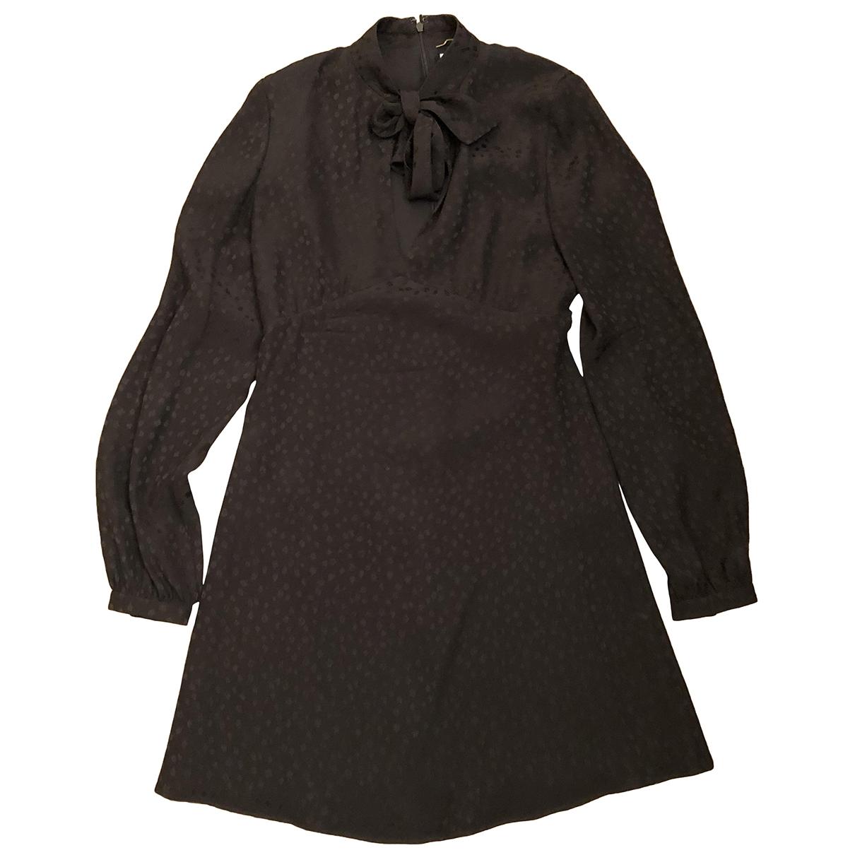 Saint Laurent \N Black Silk dress for Women 36 FR