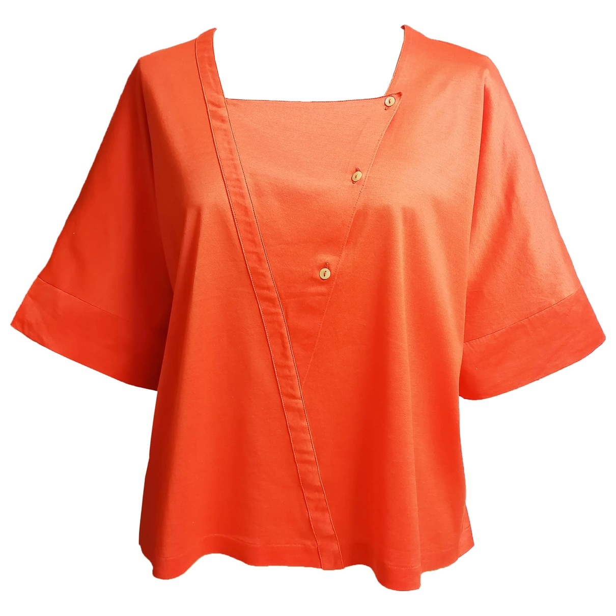 - Top   pour femme en coton - orange