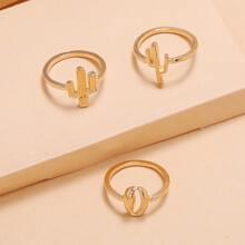 3pcs Cactus Decor Ring