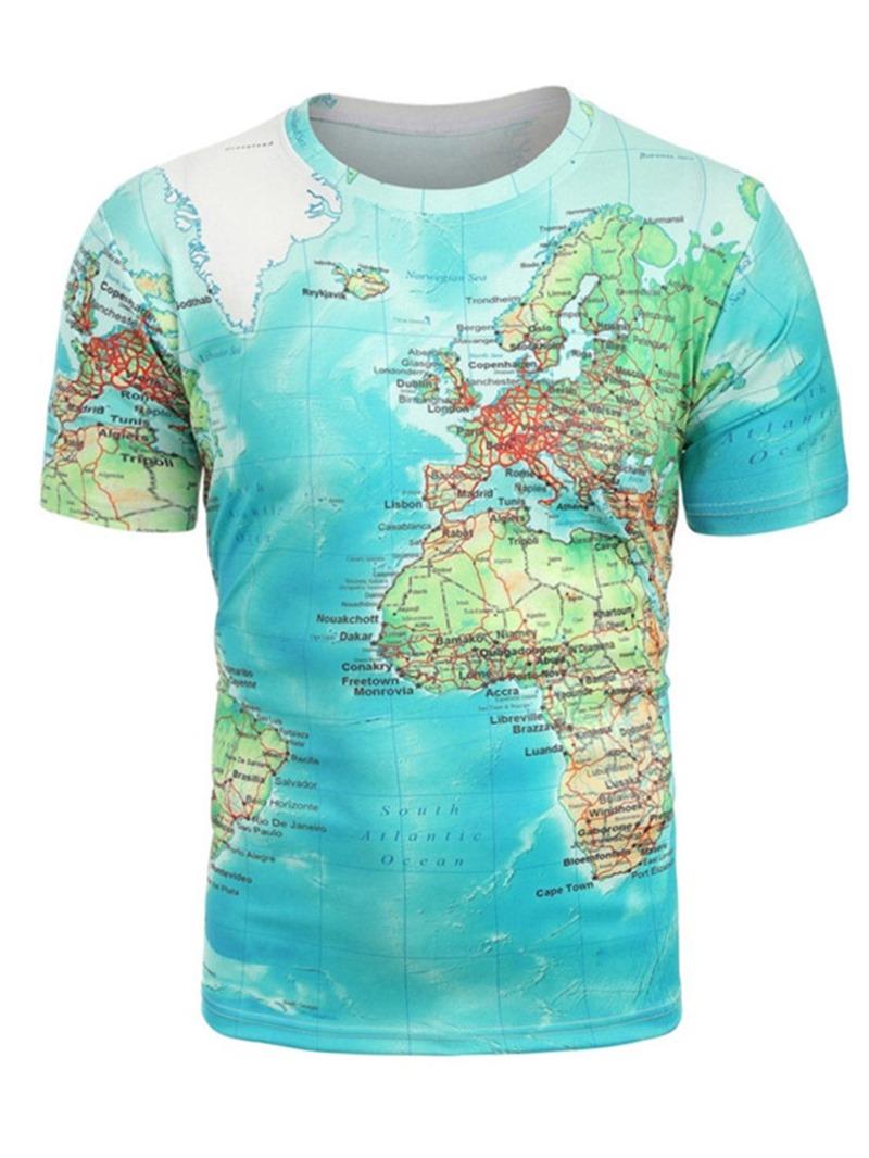 Ericdress Casual Short Sleeve Loose Men's T-shirt