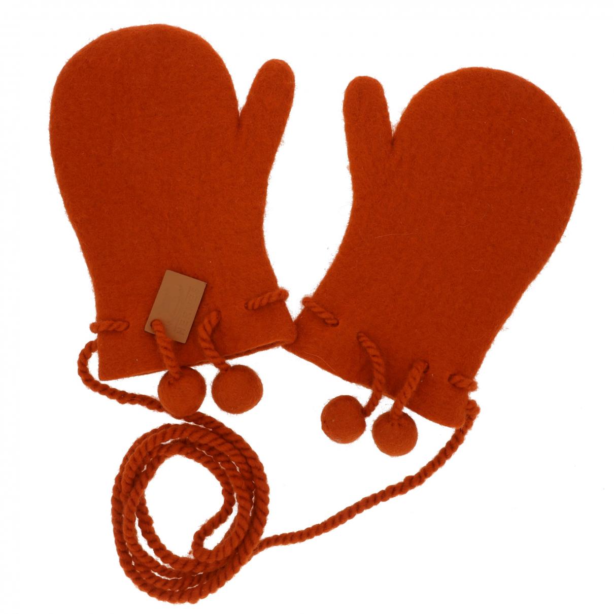 Hermes \N Handschuhe in  Orange Kaschmir
