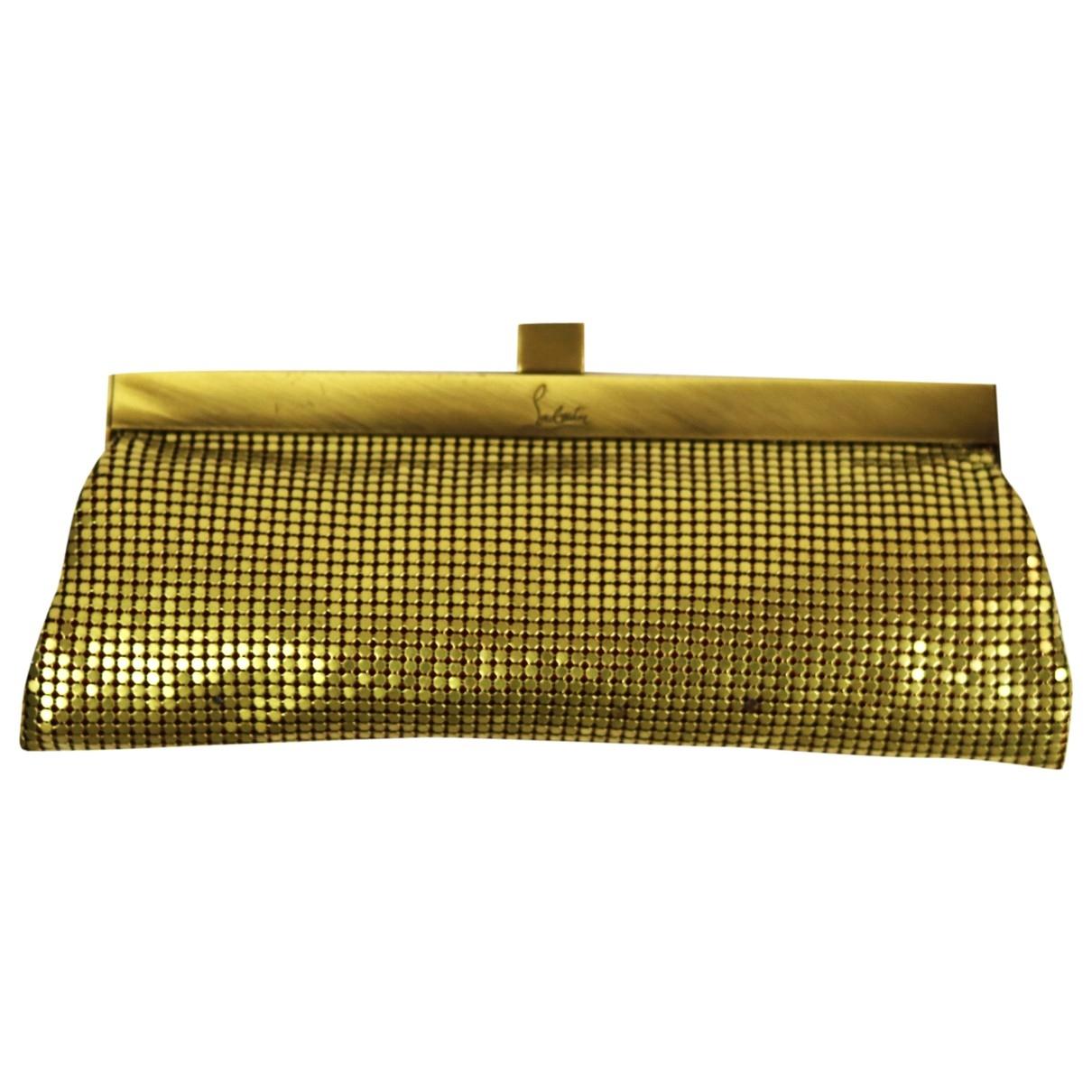 Christian Louboutin \N Clutch in  Gold Metall