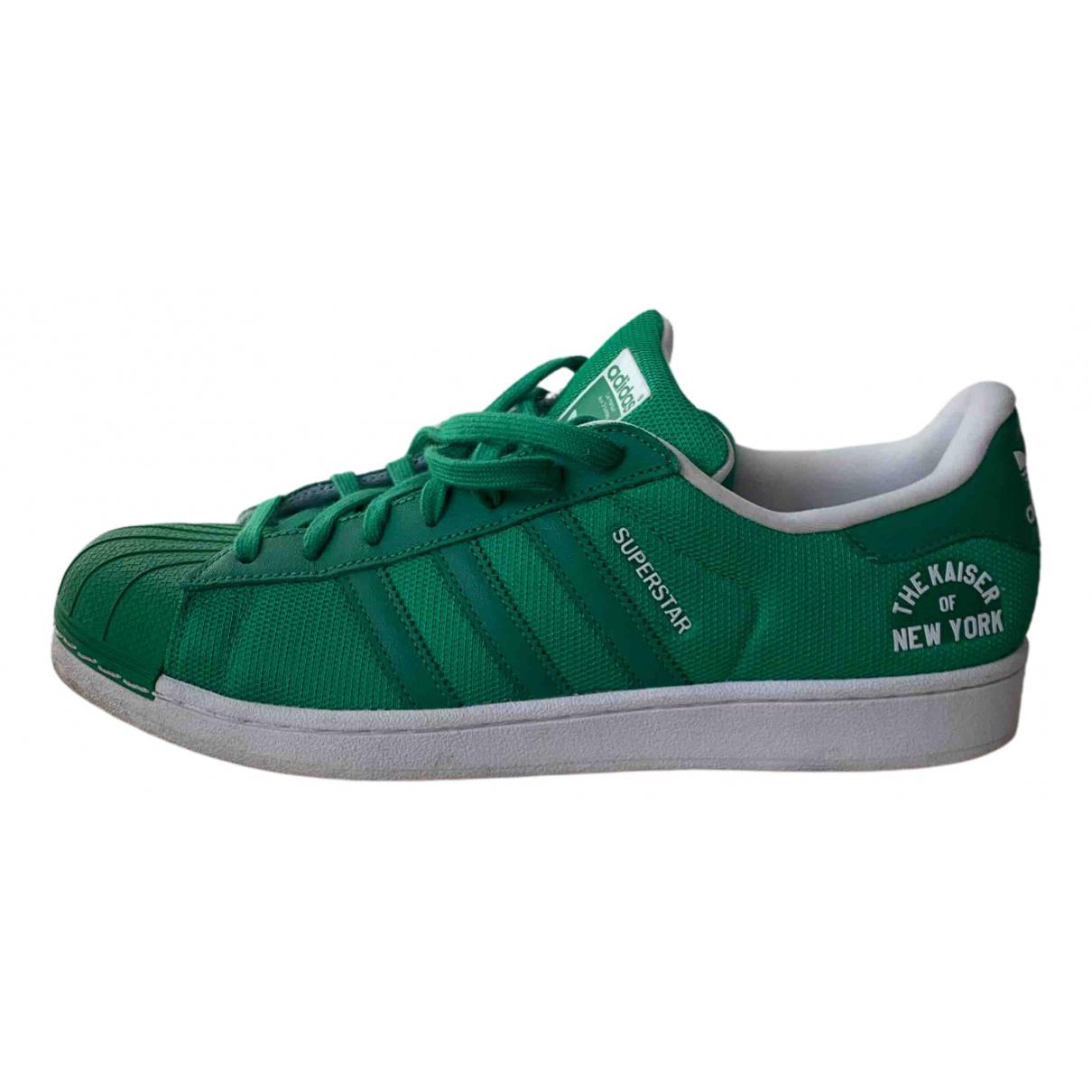 Adidas - Baskets Superstar pour homme en caoutchouc - vert