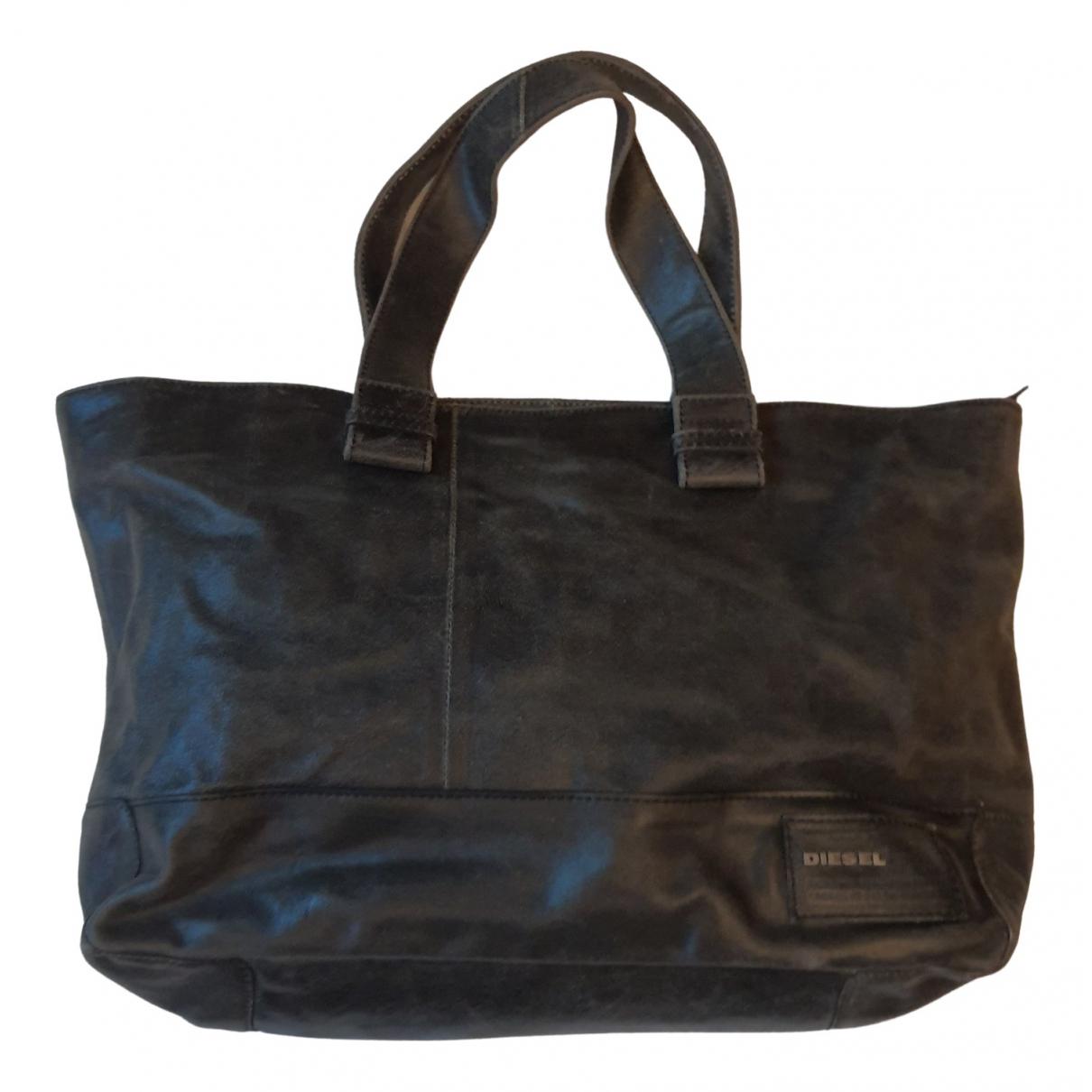 Diesel \N Handtasche in  Anthrazit Leder