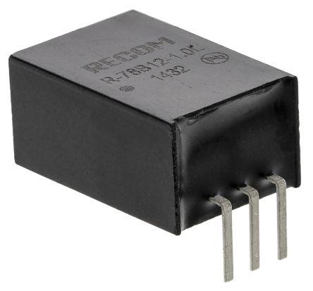 Recom Through Hole Switching Regulator, 12V dc Output Voltage, 32V dc Input Voltage, 1A Output Current