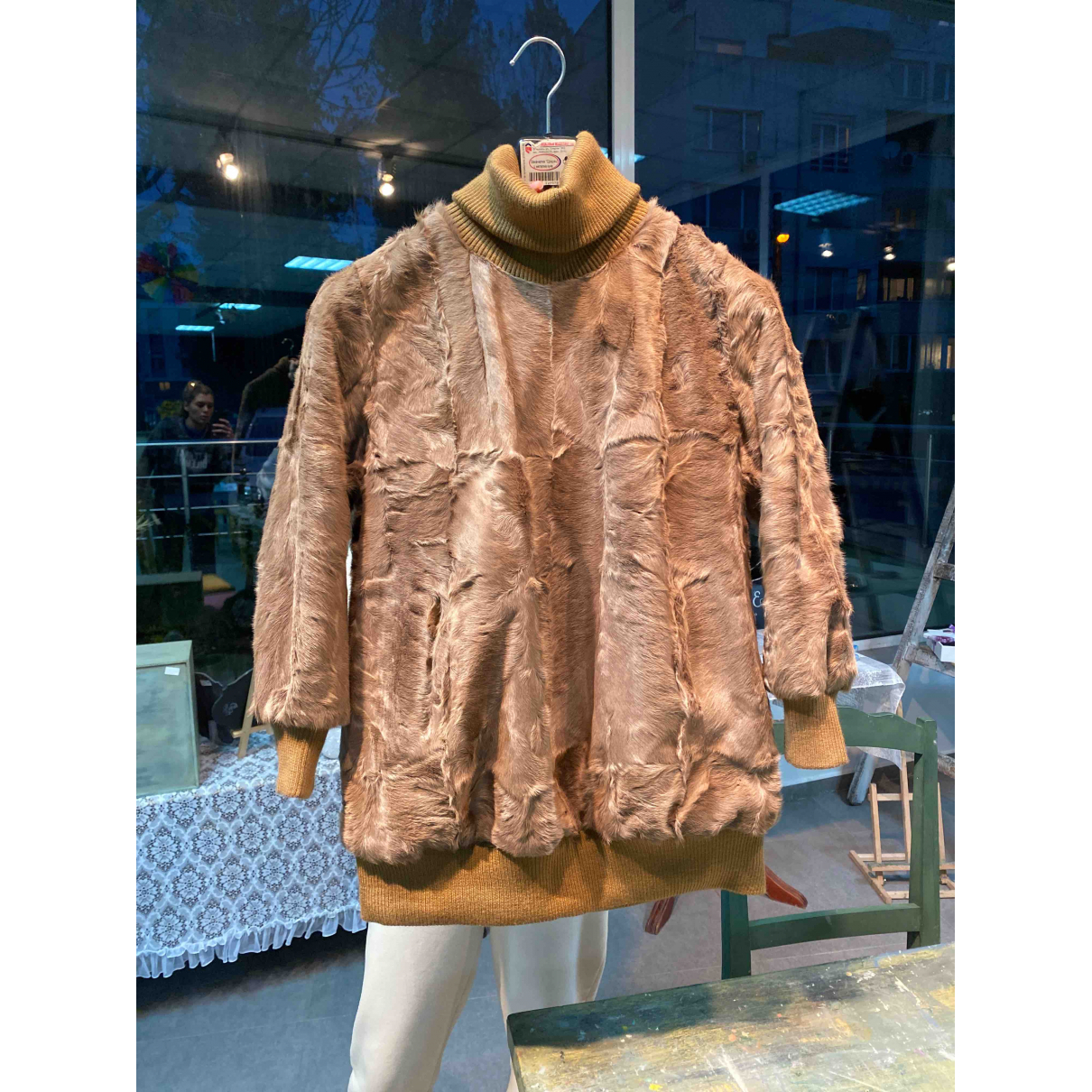 Non Signé / Unsigned Oversize Brown Fur Knitwear for Women S International