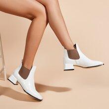 Chelsea Stiefel mit quadratischer Zehenpartie