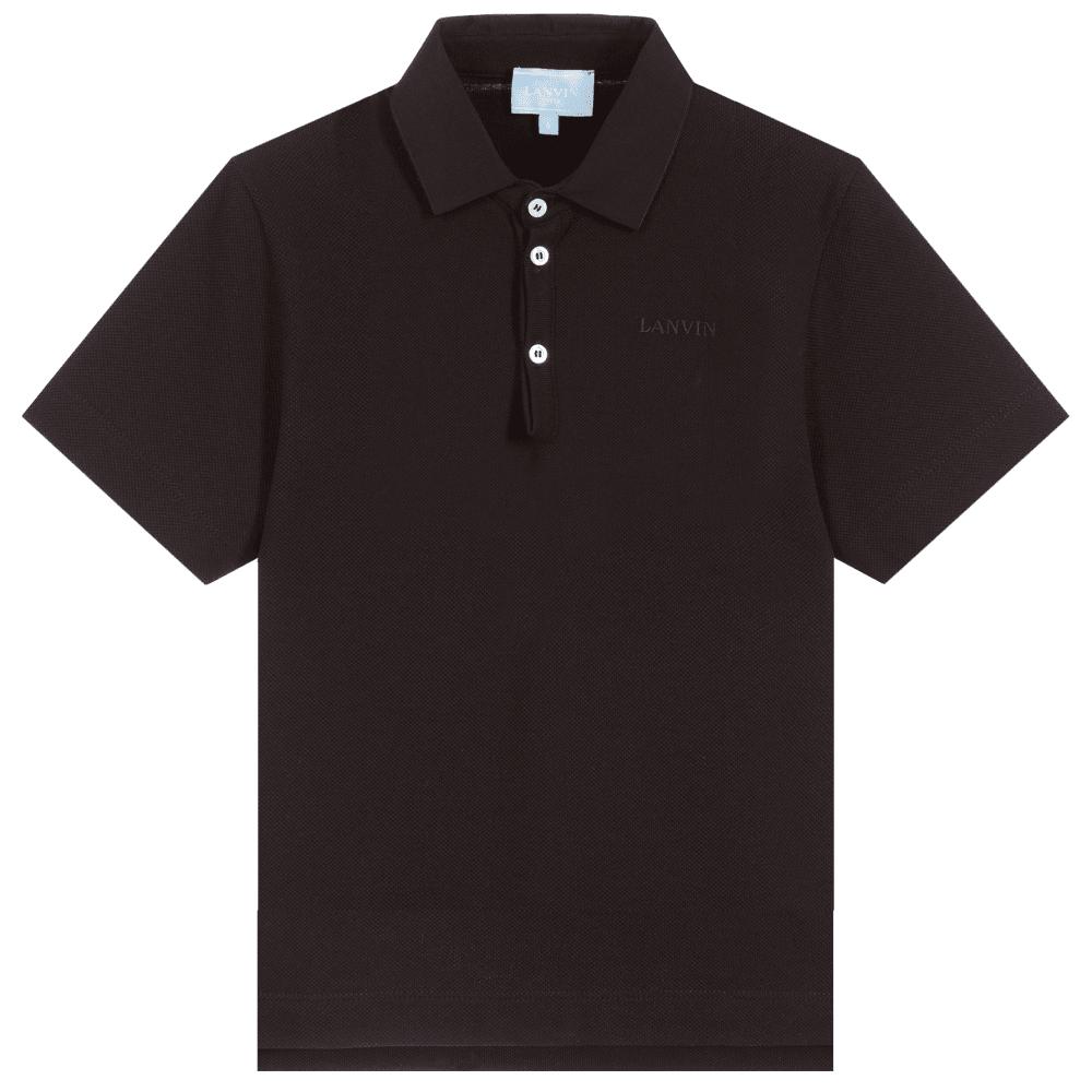 Lanvin Paris Kids Polo Colour: BLACK, Size: 12 YEARS