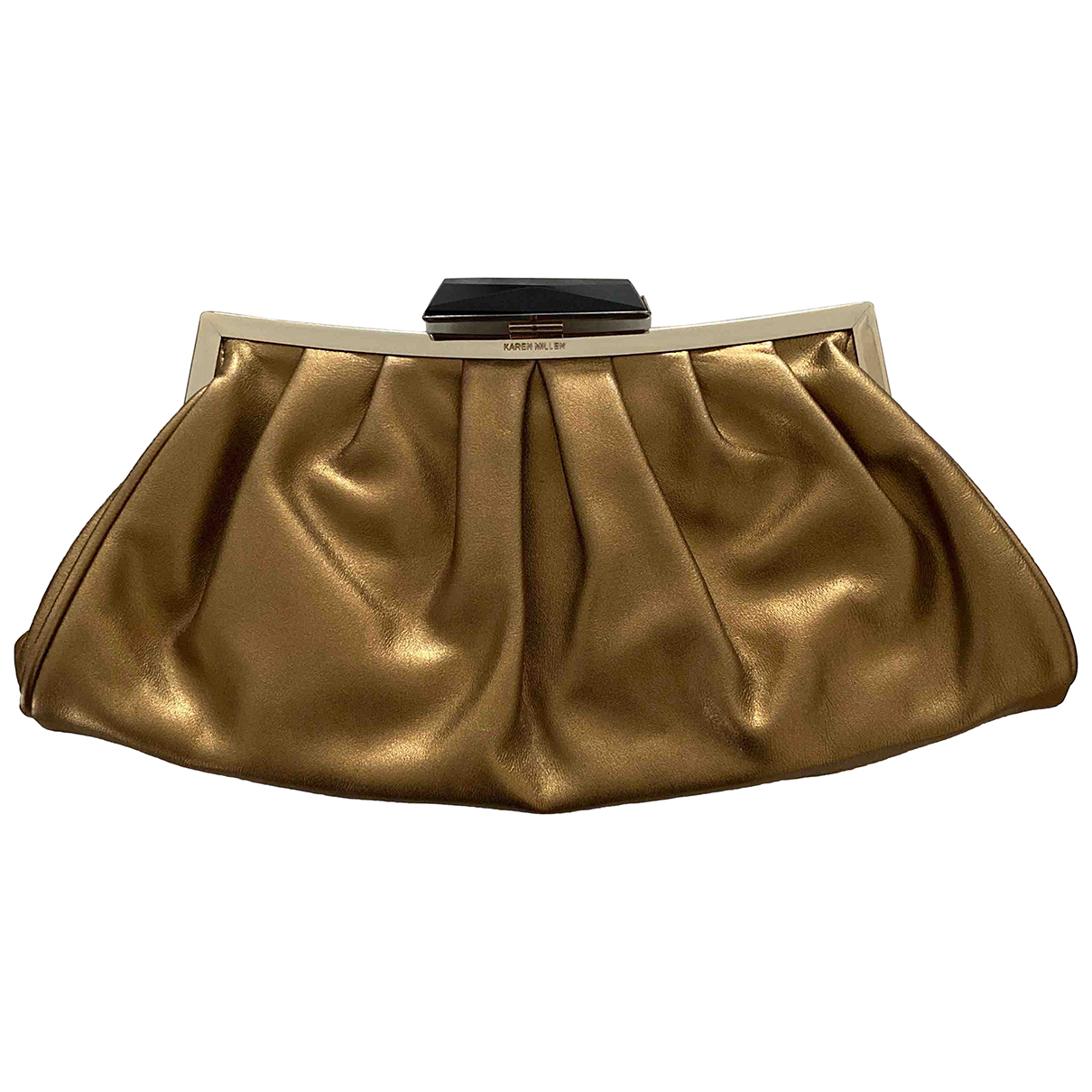 Karen Millen \N Clutch in  Gold Leder