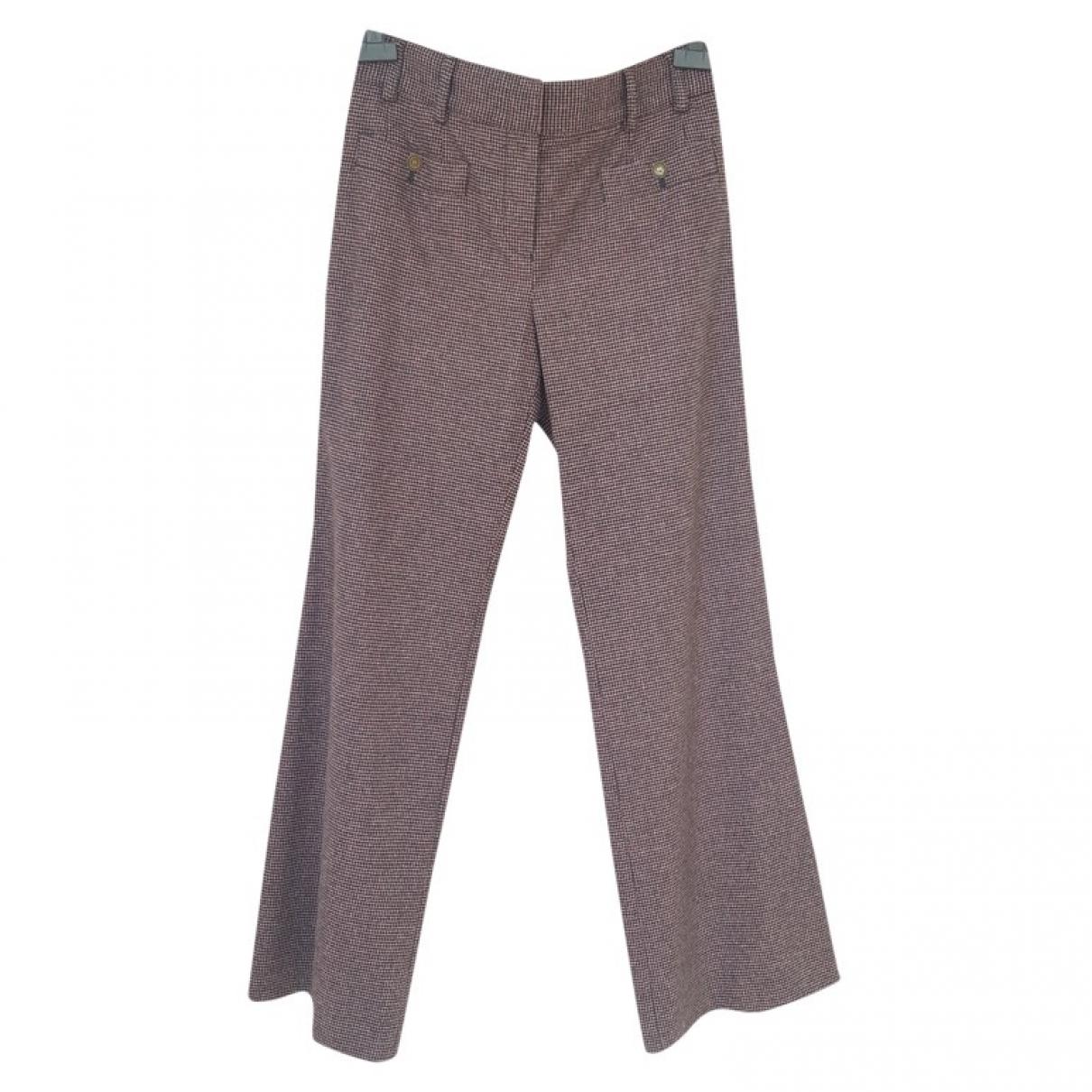 Chanel \N Burgundy Wool Trousers for Women 38 FR