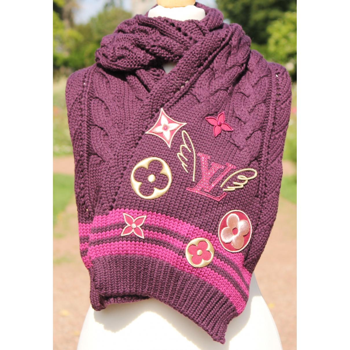 Louis Vuitton \N Schal in  Rosa Wolle