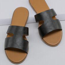 Zapatillas Liso Negro comodo
