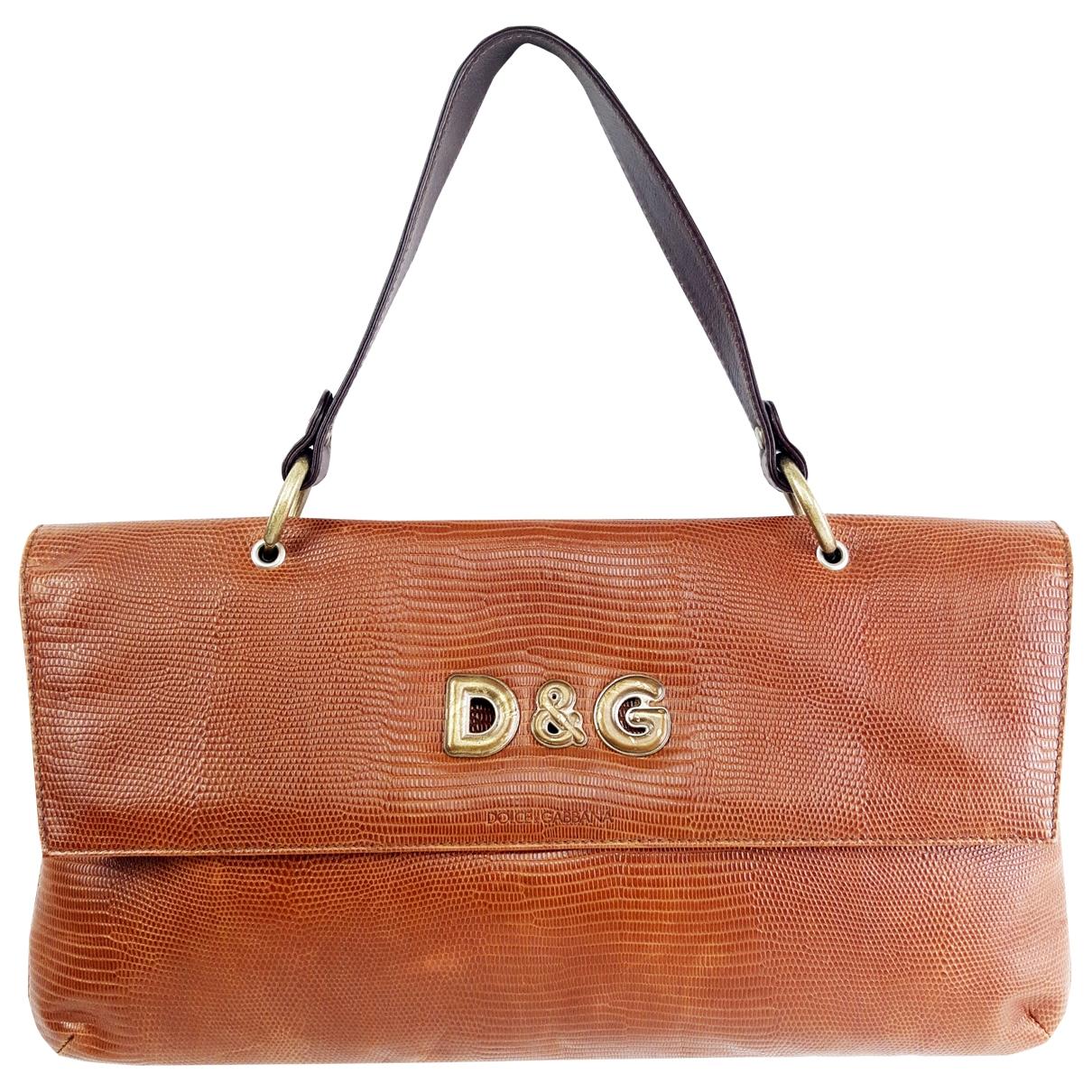 D&g \N Handtasche in  Braun Echse