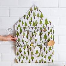 Tree Print Hanging Storage Bag