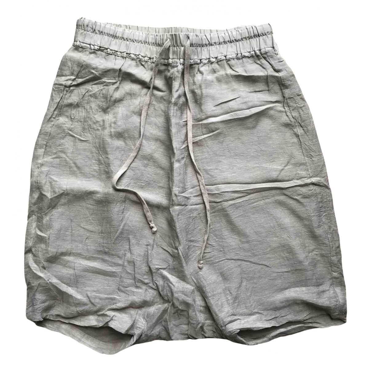 Rick Owens N Beige Silk Shorts for Women 38 IT