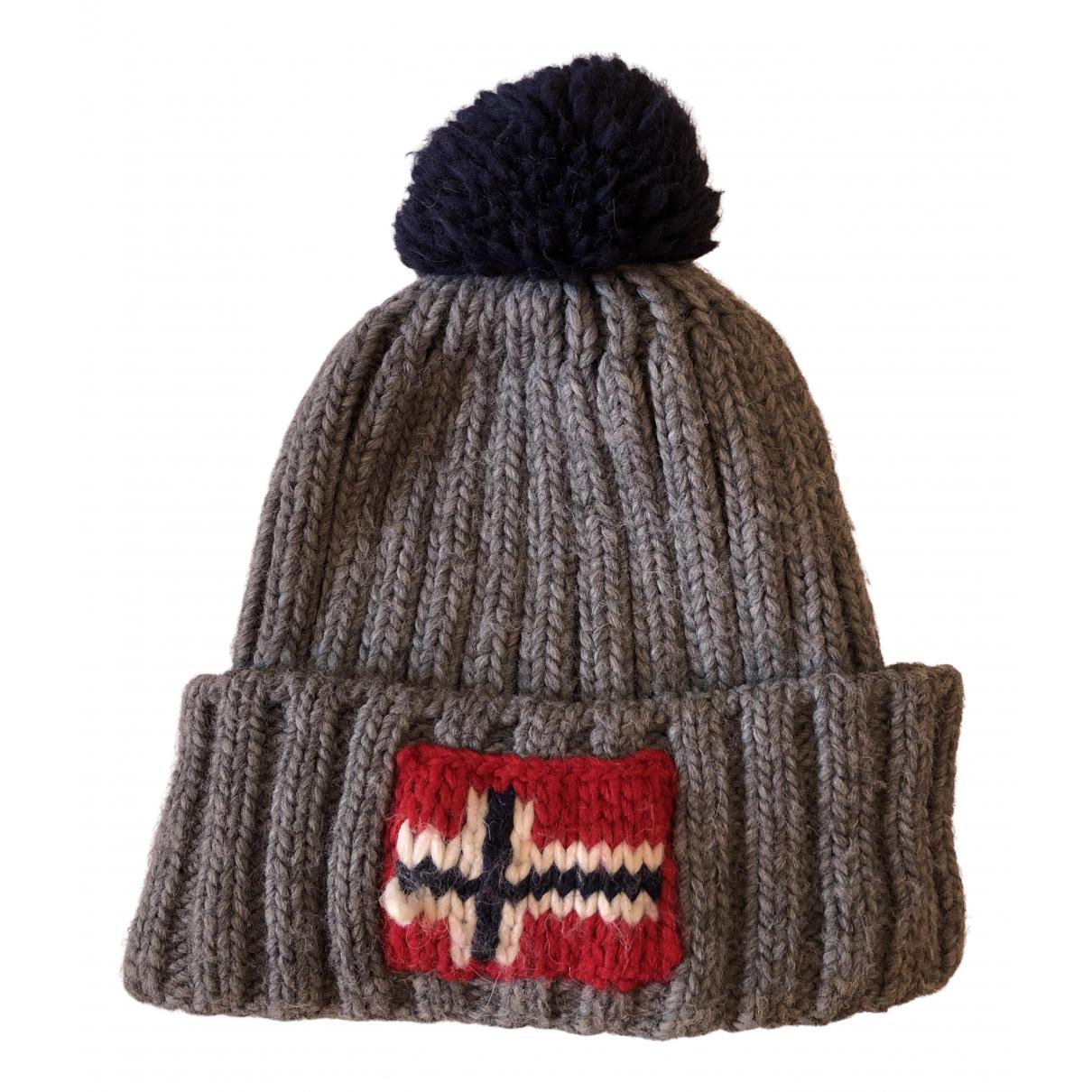 Napapijri - Chapeau   pour femme en laine - gris
