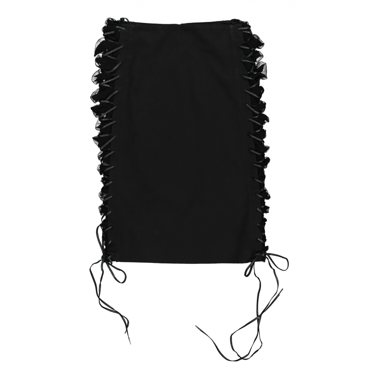 Alexander Mcqueen N Black Cotton skirt for Women 40 IT