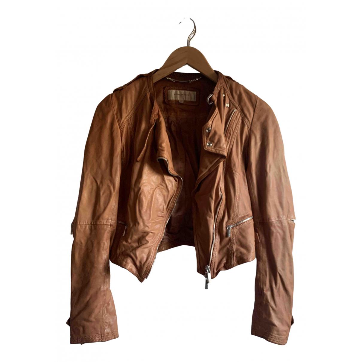 Karen Millen \N Brown Leather jacket for Women 8 UK
