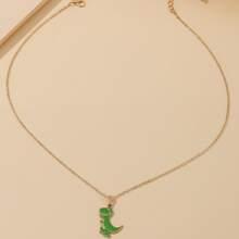 Cartoon Dinosaur Pendant Necklace
