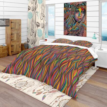 BED18638-K Designart 'Gorgeous Wave' Bohemian & Eclectic Duvet Cover