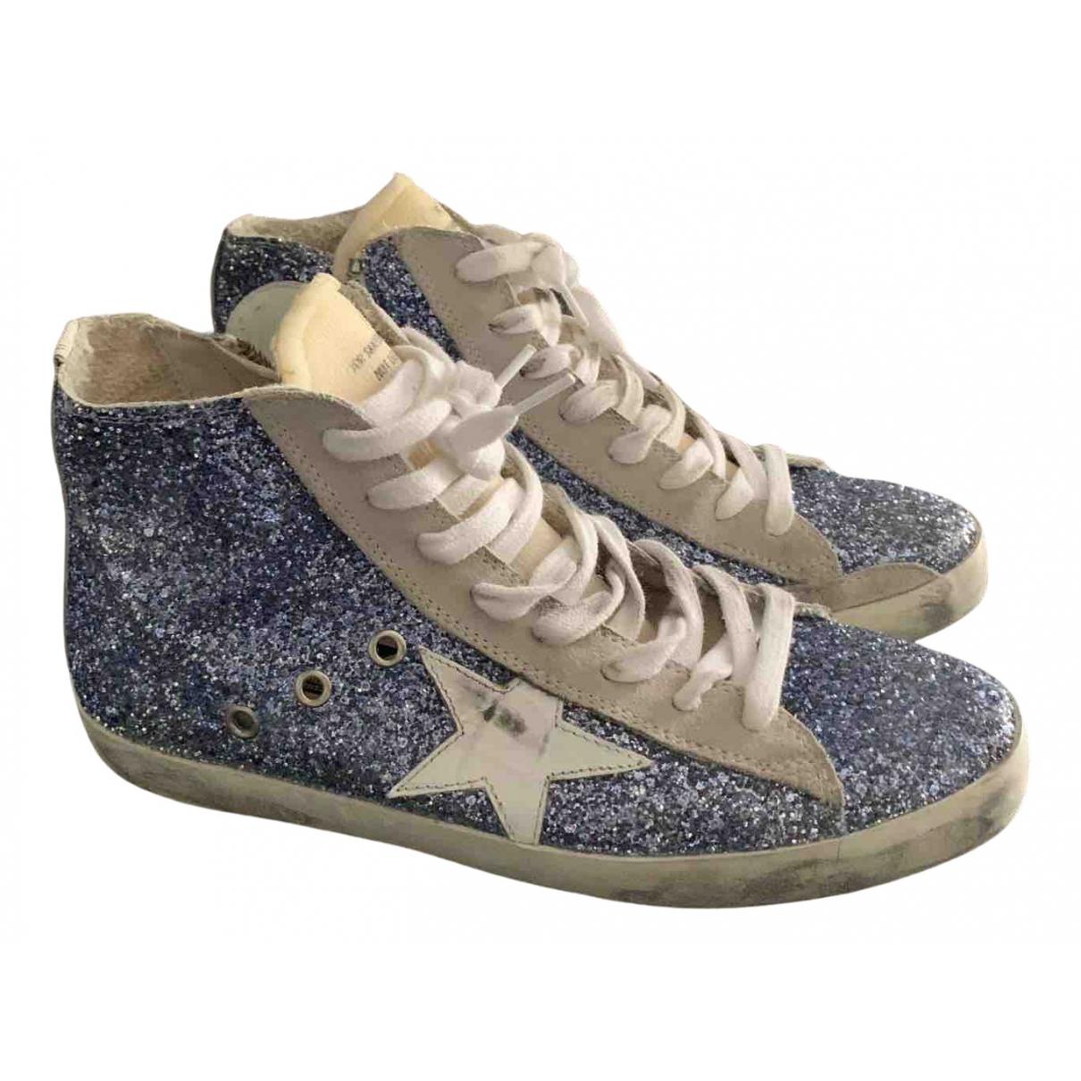 Golden Goose Francy Sneakers in  Blau Mit Pailletten