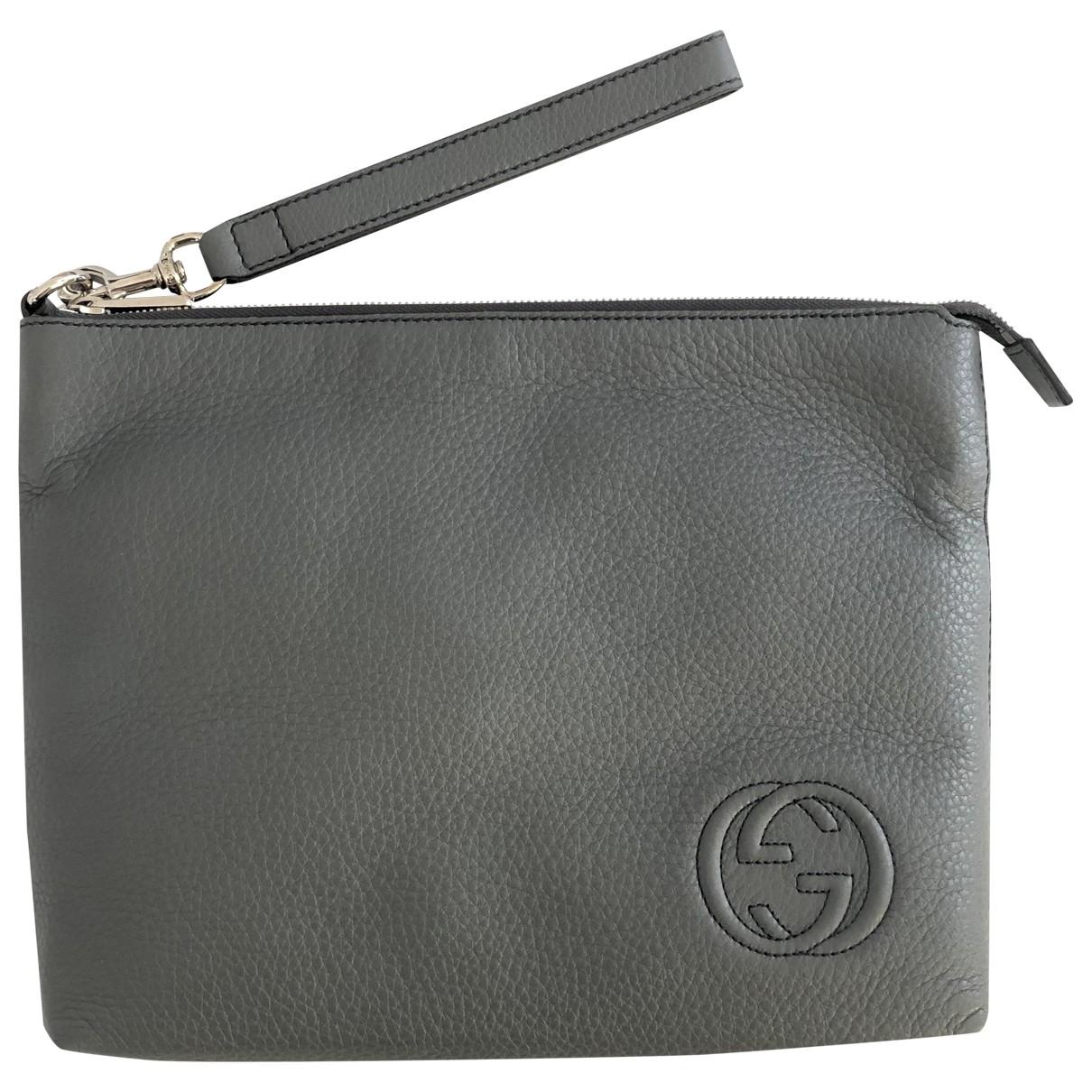 Gucci - Petite maroquinerie   pour homme en cuir - gris