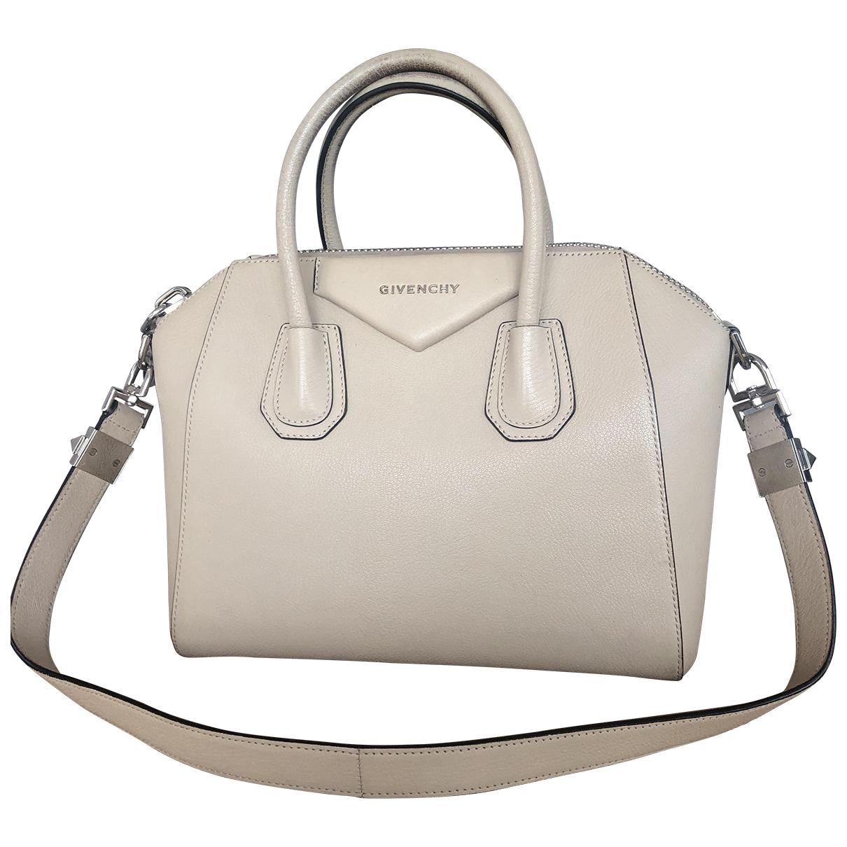 Givenchy - Sac a main Antigona pour femme en cuir - ecru